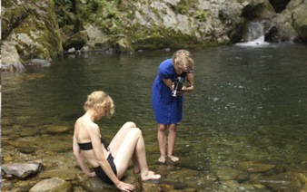 "Laure Provost shooting ""Swallow"" in Italy"